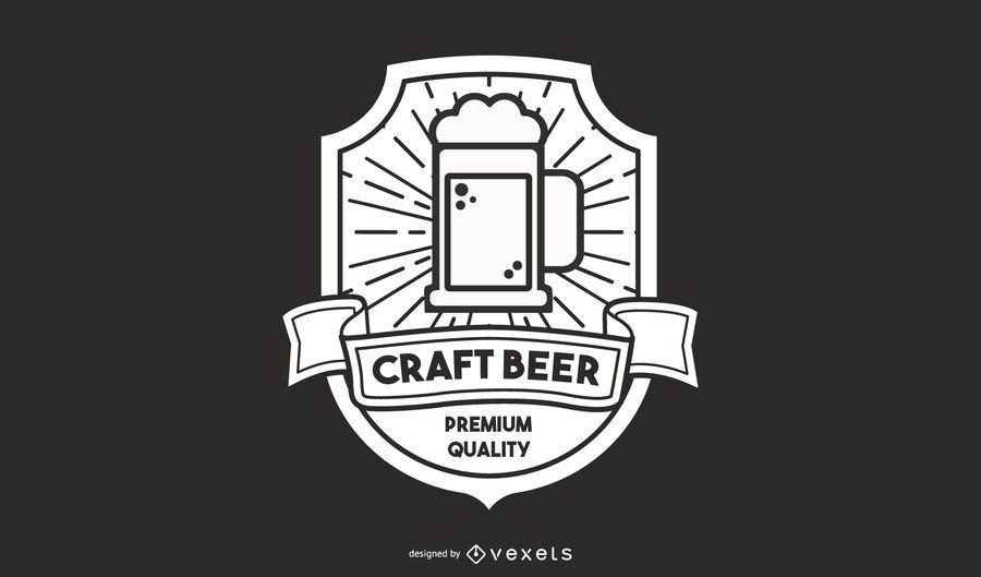 Diseño de logotipo de cerveza artesanal