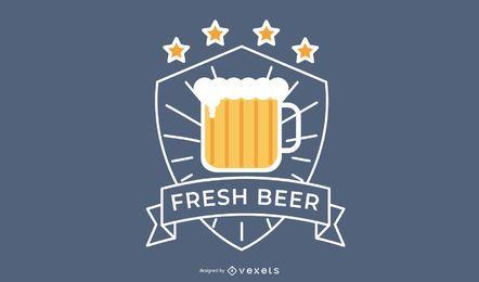 Diseño de logo de cerveza fresca