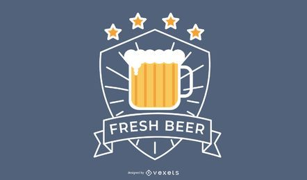 Frisches Bier-Logo-Design