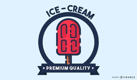 Ice cream stroke logo design