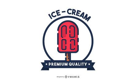 Diseño de logotipo de trazo de helado