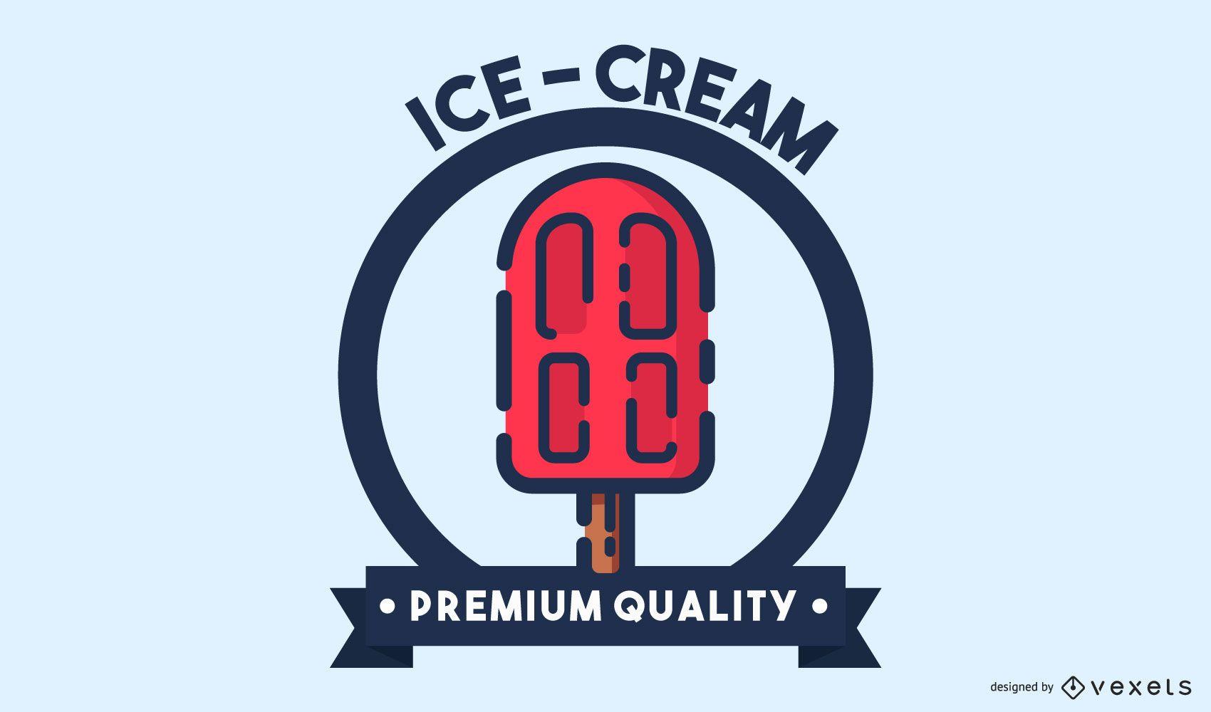 Design de logotipo para derrame de sorvete