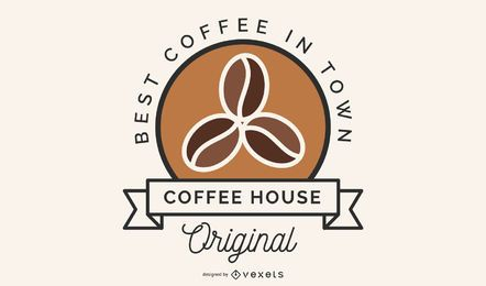 Diseño de logo de granos de café