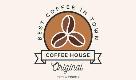 Diseño de logotipo de granos de café