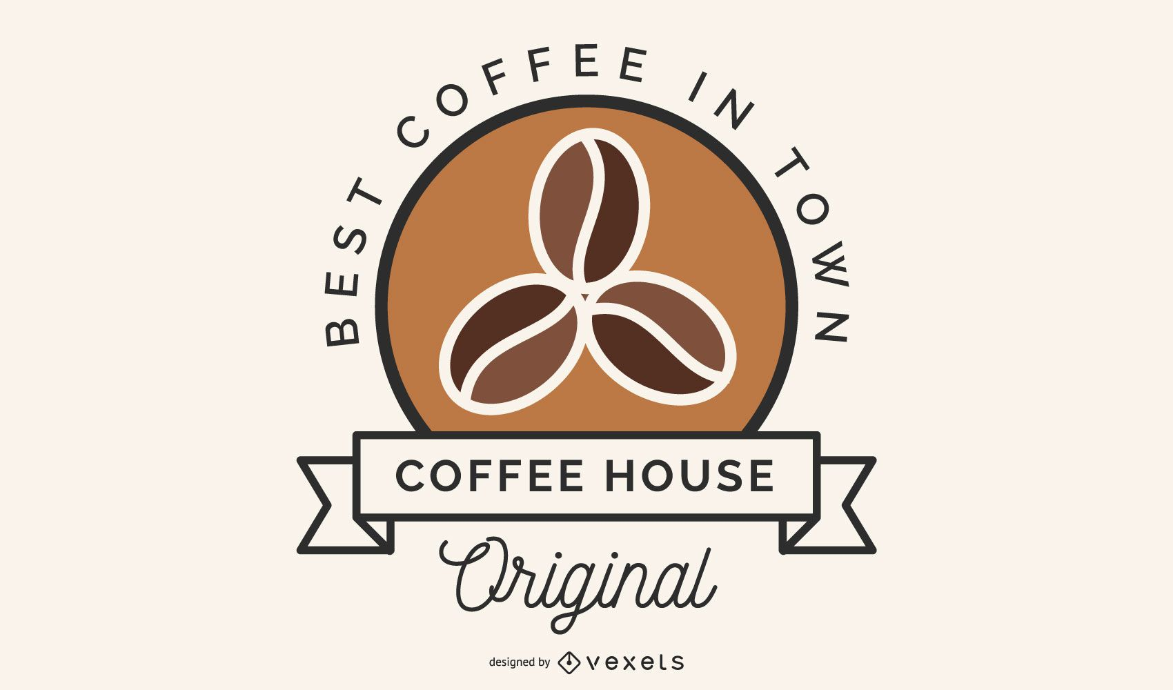 Design de logotipo de grãos de café