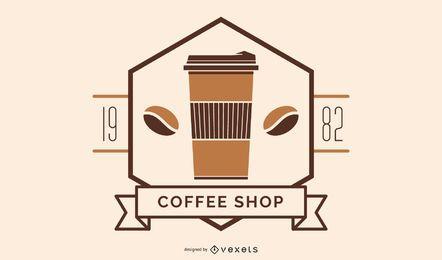Kaffeestube Logo Abzeichen Design