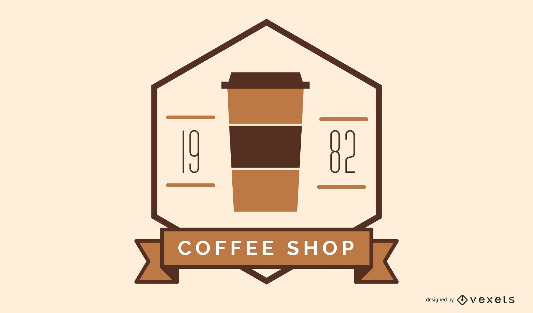 Coffee shop logo badge design