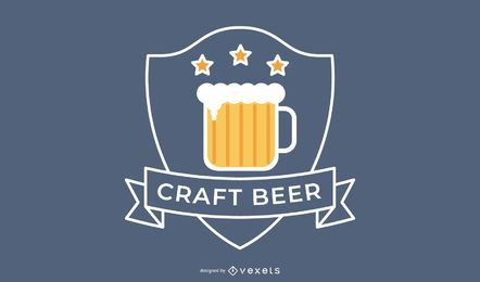 Craft beer logo badge design