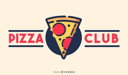 Design de logotipo de clube de pizza