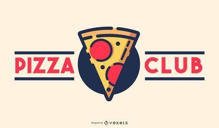 Design de logotipo do Pizza Club