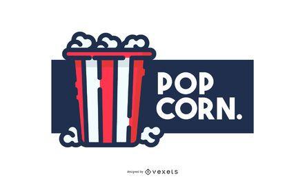 Diseño de logo de palomitas de maíz