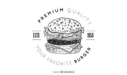 Design de logotipo de hambúrguer premium