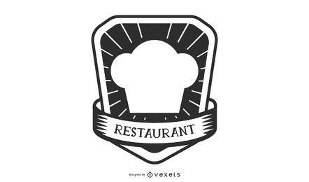 Design de logotipo de chapéu de chef de restaurante