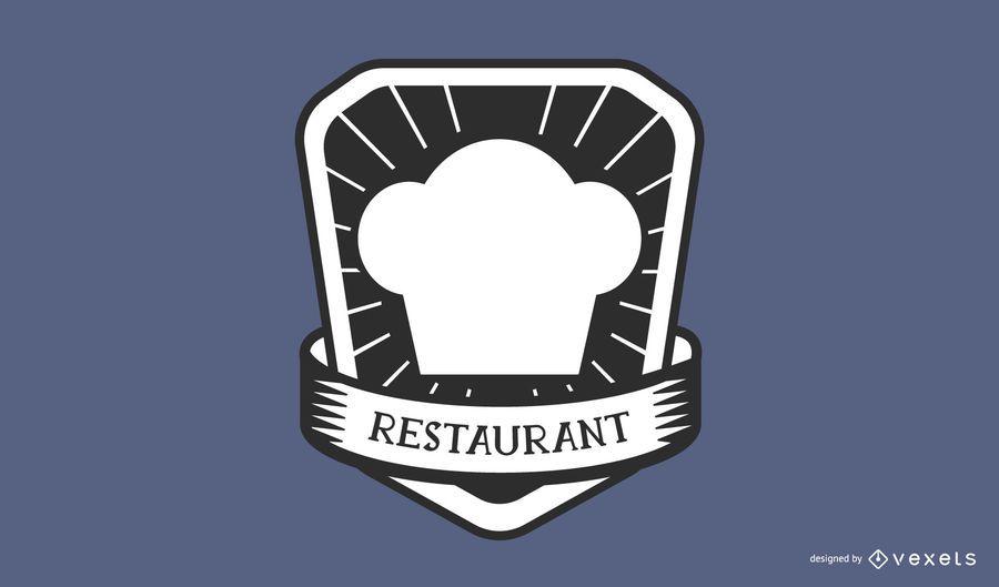 Restaurante chef hat logo design