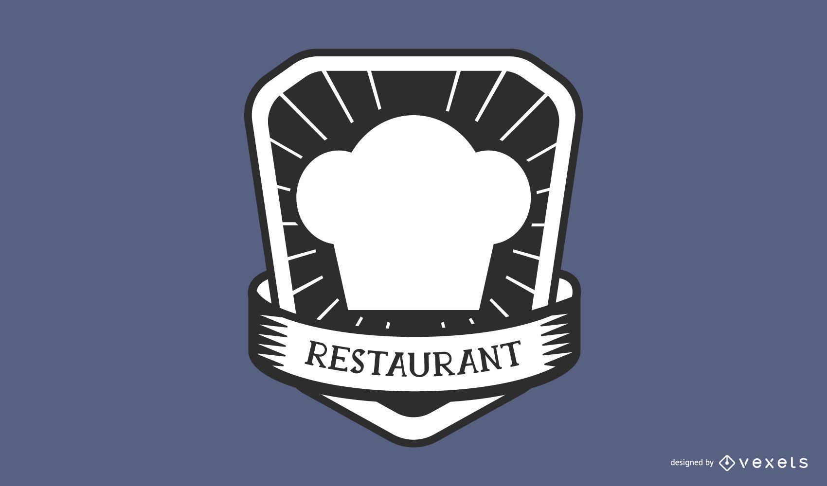 Restaurant chef hat logo design