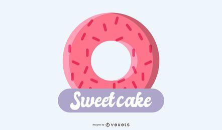 Design de logotipo de bolo doce