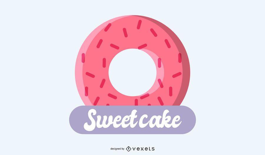 Süßes Kuchenlogodesign