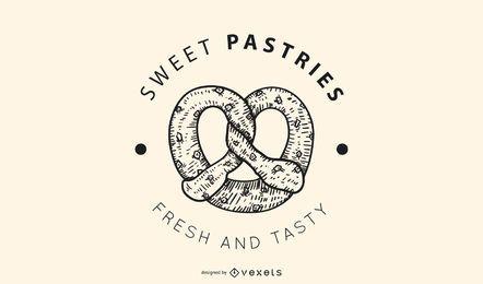 Diseño de logotipo de pasteles dulces