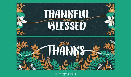 Set de tarjetas de acción de gracias