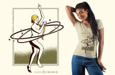 Diseño de camiseta de mujer bailando