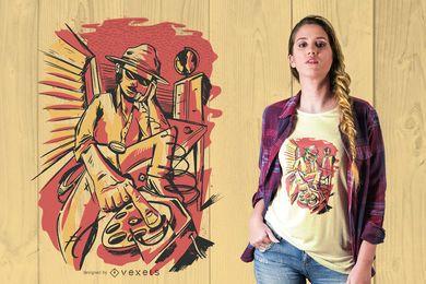 Design de camiseta de investigador particular