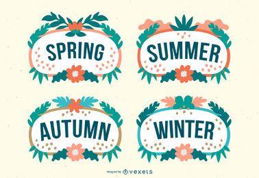 Tropische Jahreszeiten Vektor festgelegt