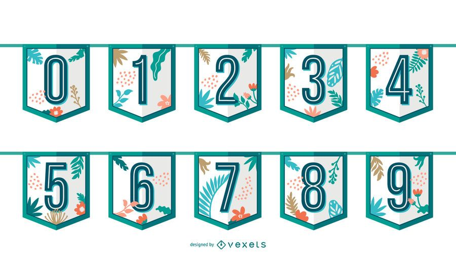 Tropical garland numbers set