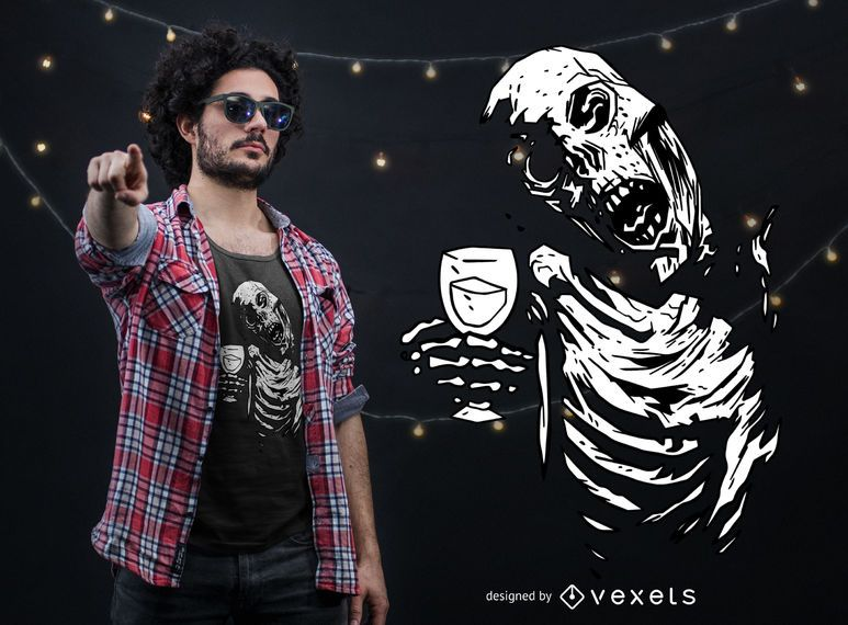 Zombie-Beifall-T-Shirt Entwurf
