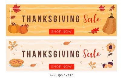 Thanksgiving Sale Banner Set