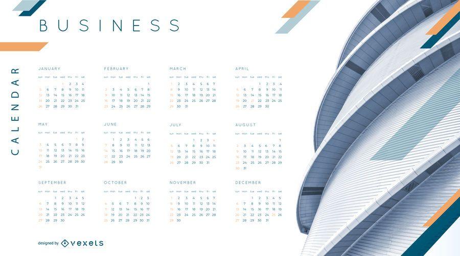 Design de calendário de negócios