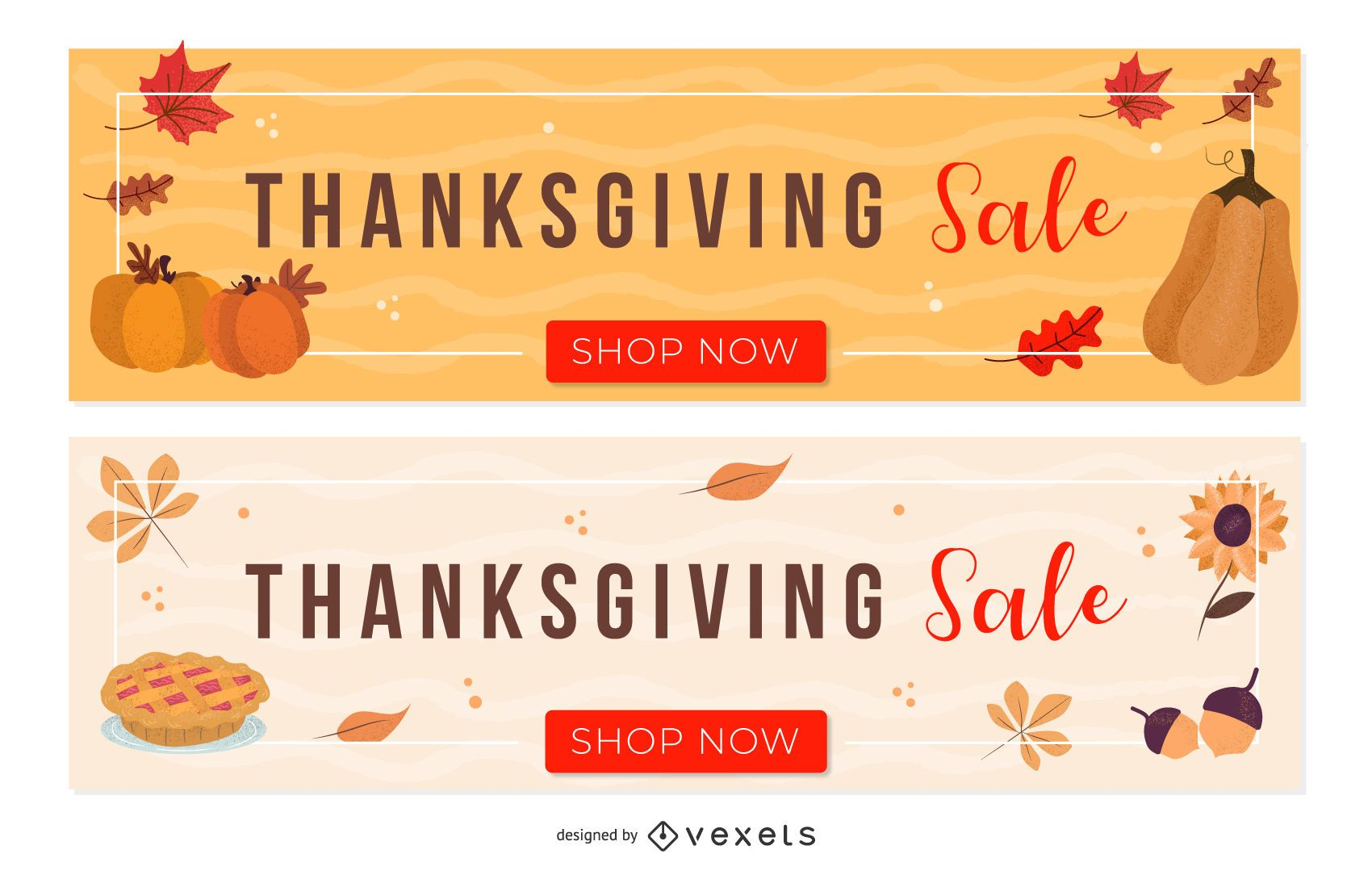 Thanksgiving Sale Set Vector Download