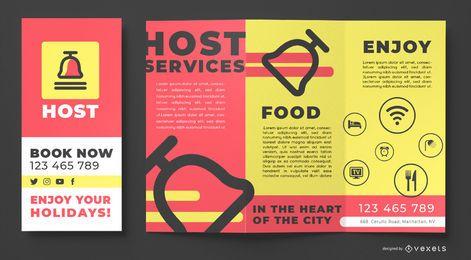 Plantilla de folleto de host