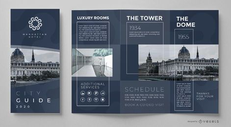 City guide brochure template