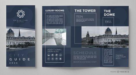 Plantilla de folleto de guía de la ciudad