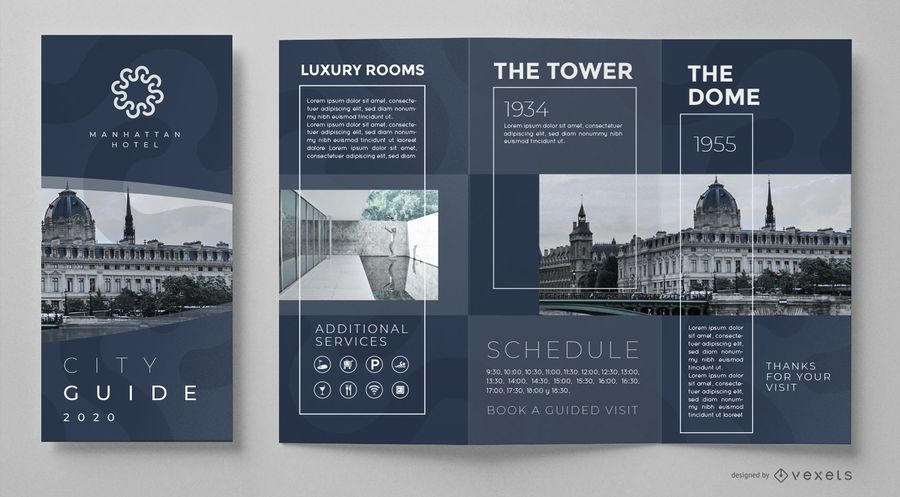 Modelo de brochura - guia da cidade