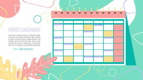 Calendario de eventos Diseño colorido