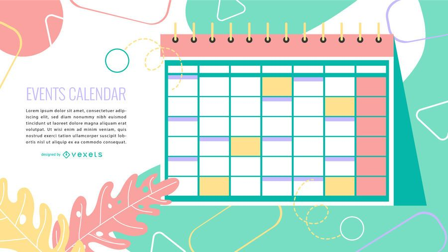 Event Calendar Colorful Design