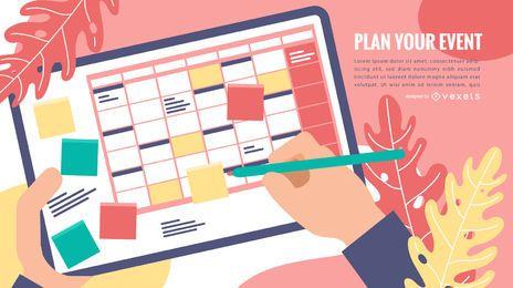 Design de modelo de calendário de eventos