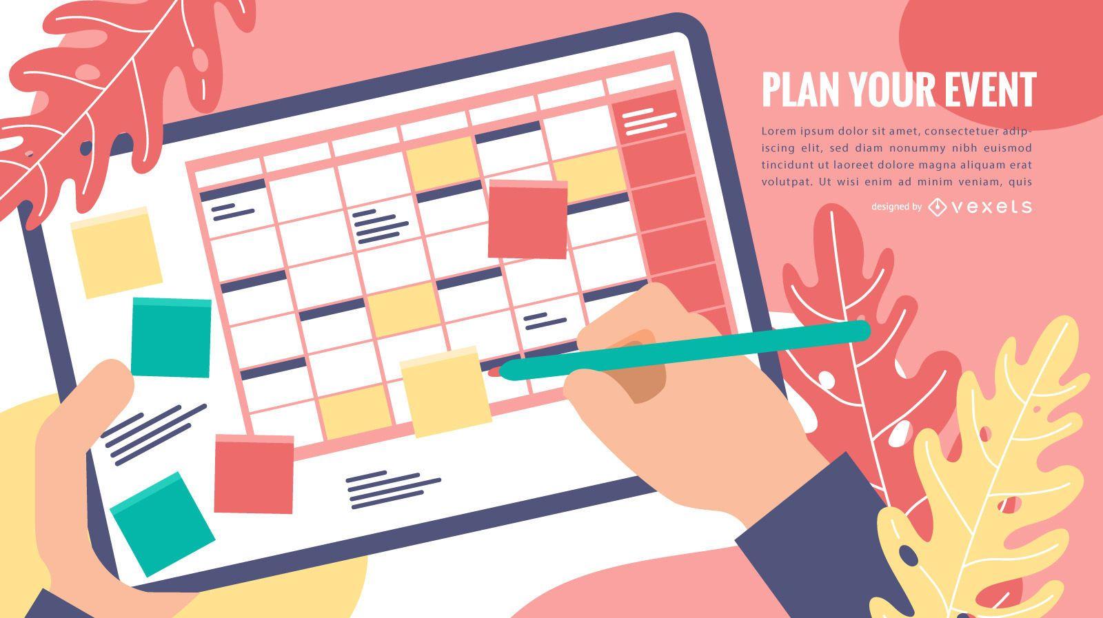 Event calendar template design