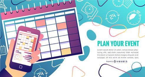 Design de gradiente de calendário de eventos
