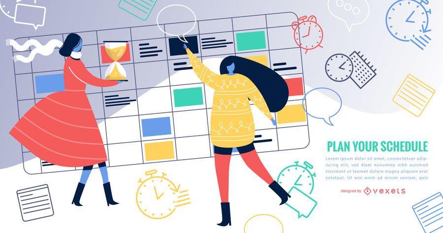 Calendario de eventos de diseño simple