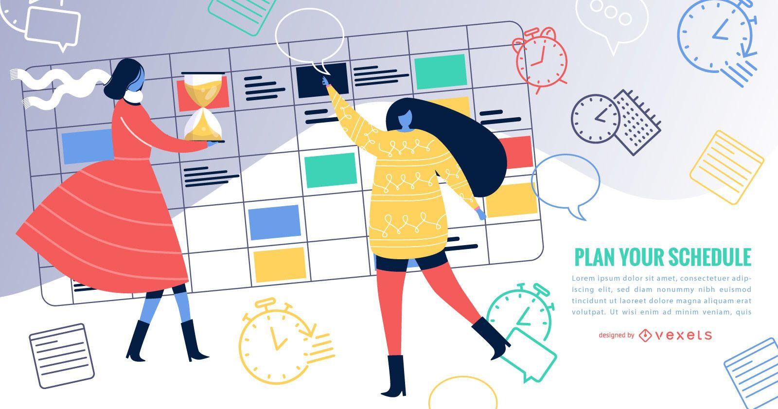 Diseño simple del calendario de eventos
