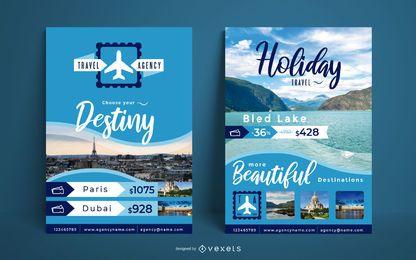 Plantilla de póster de agencia de viajes