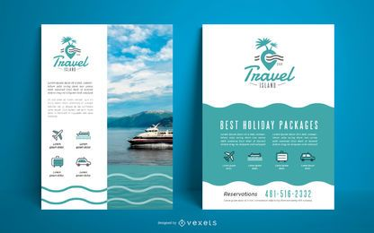 Plantilla de agencia de viajes con póster