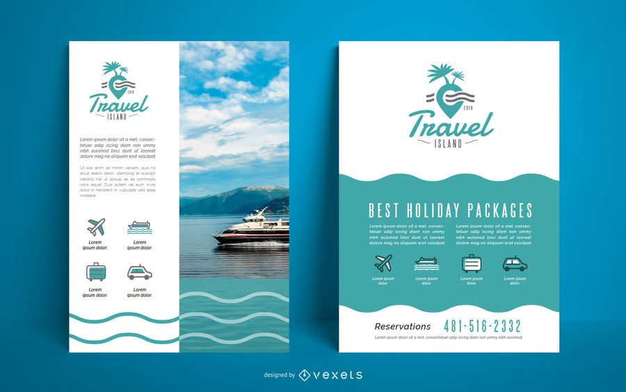 Poster travel agency template