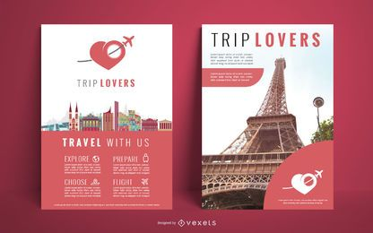 Travel agency poster design
