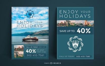 Urlaub Reisen Plakat Vorlage
