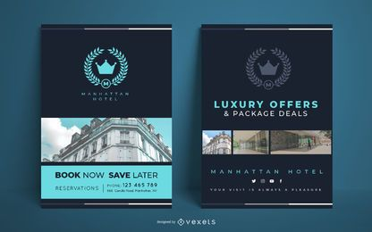 Hotel simple poster template
