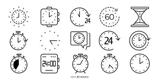 Coleção de ícone de tempo