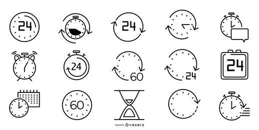 Pacote de ícones da linha do tempo